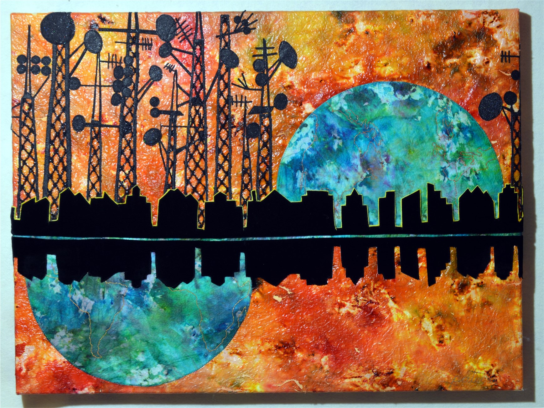 Cellular Skyline by Patricia Turner