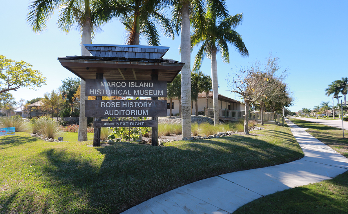 marco island historical museum sign