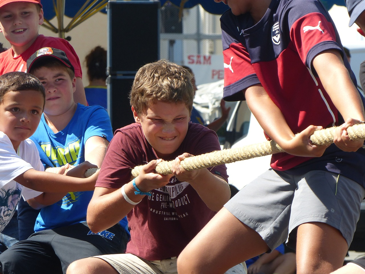 tug of war with children