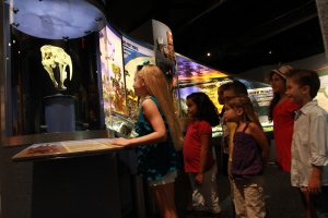 Children in exhibit gallery