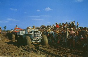 Historic Swamp Buggy at race