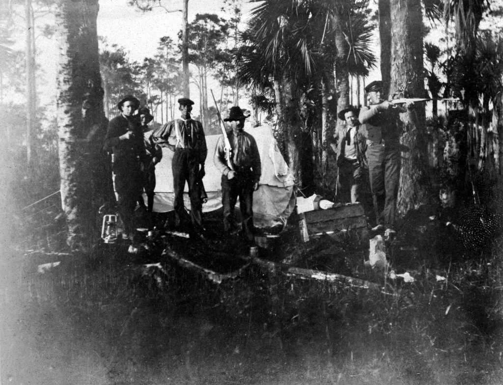 Hunting party in the Everglades