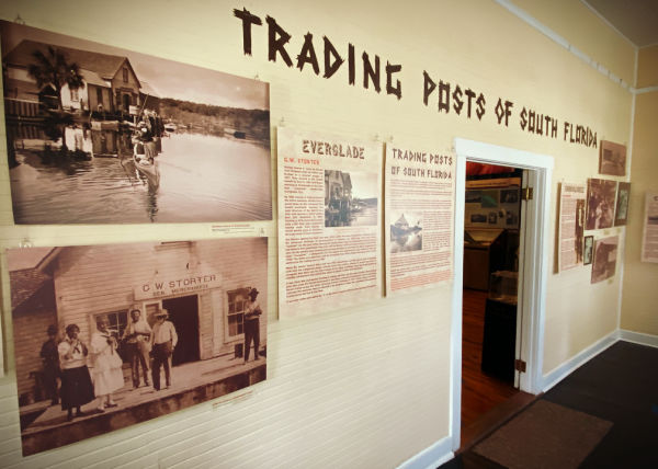Photo of Trading Posts exhibit installation