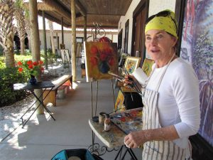 MIFA Brushes and Paints and Beyond, Patti Perrotti paints En Plein Air at the Historical Museum