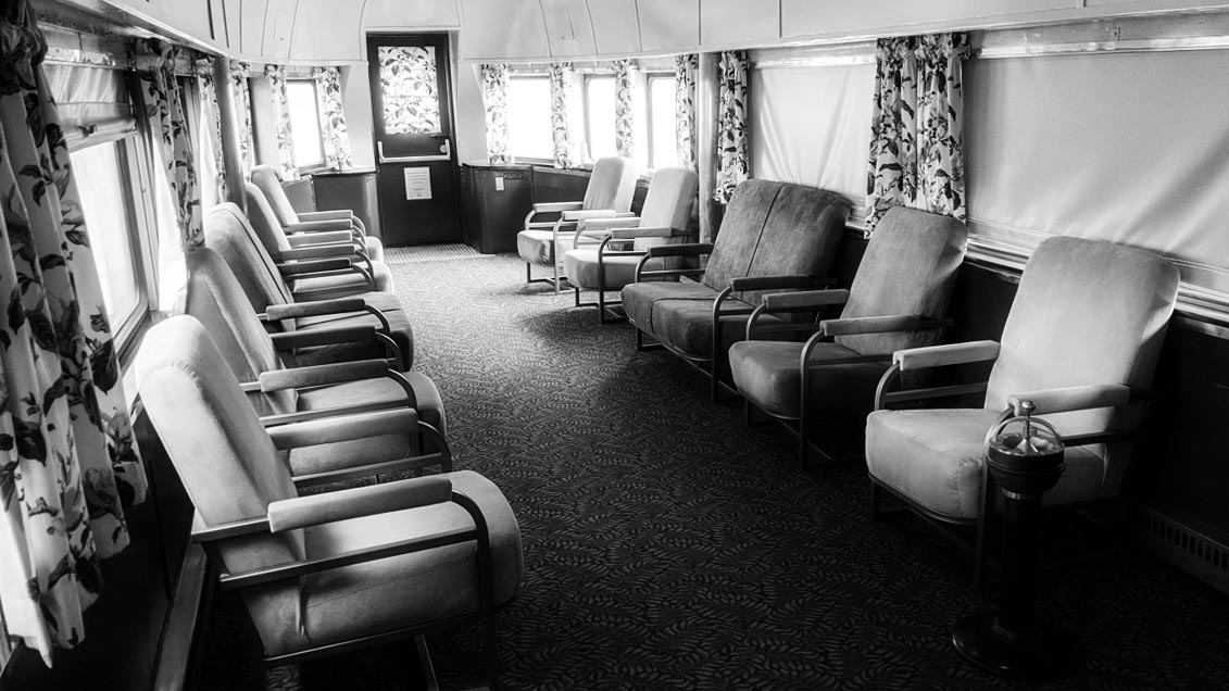 Photo of Interior of streamliner lounge