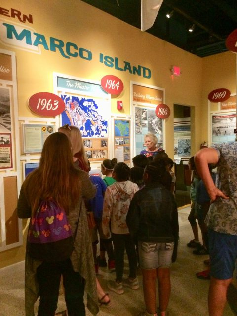 volunteer leads tour at Marco Island