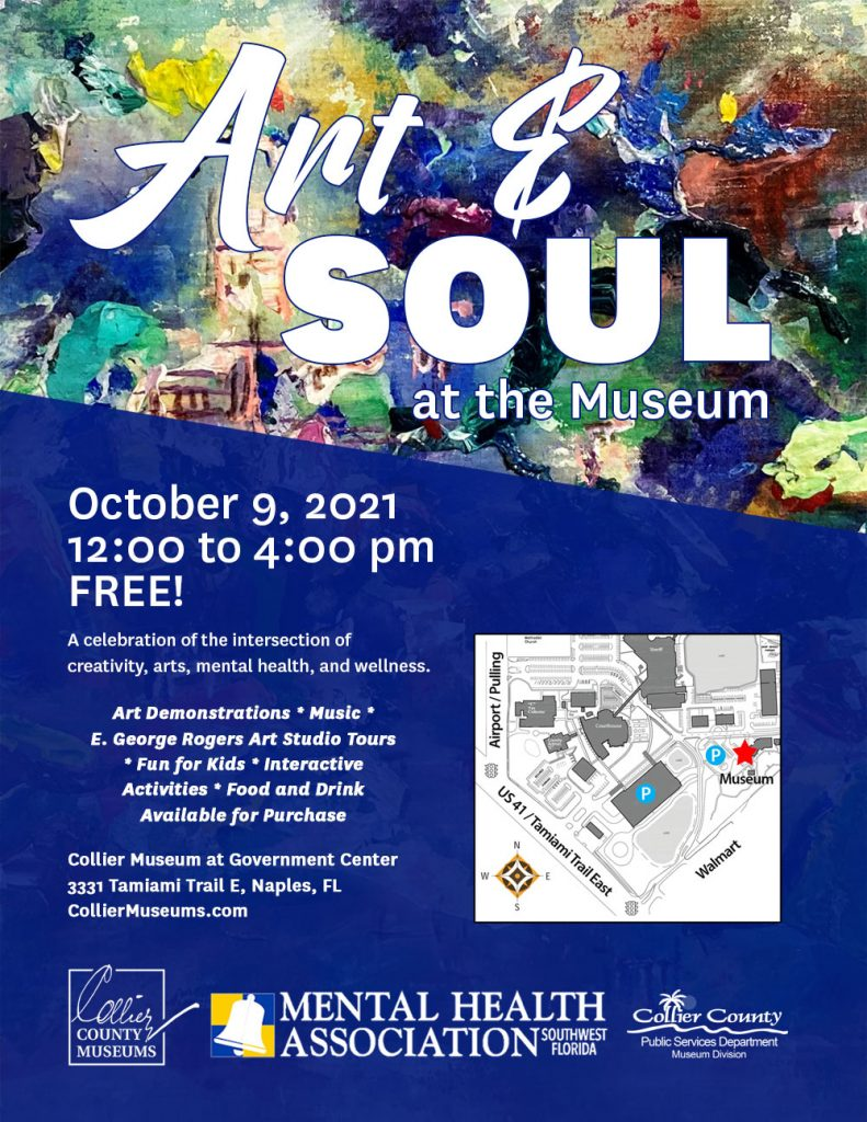 Image of Art and Soul Flyer with logo and map