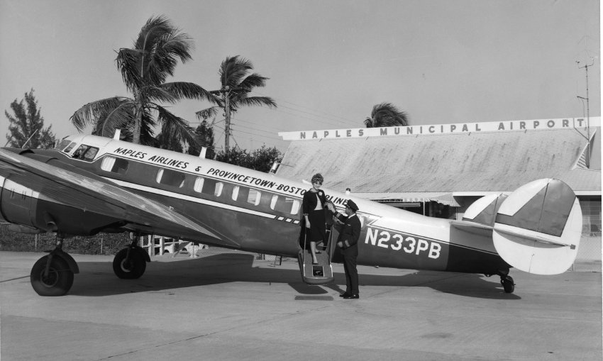 1966 Photo of a plane at Naples Municipal Airport