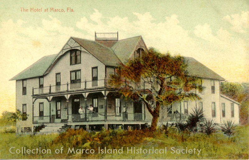 Postcard Image of Marco Island Hotel from turn of the century
